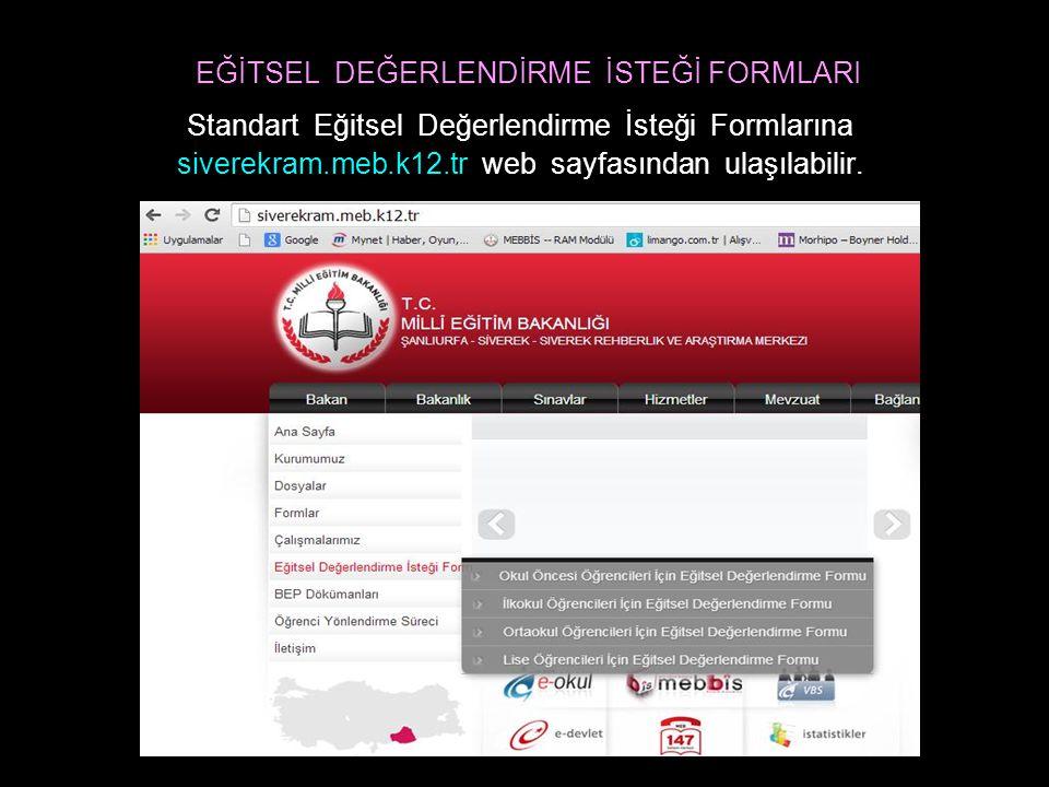 BEP DOSYASI B.E.P Dosyası'na siverekram.meb.k12.tr web sayfasından ulaşılabilir.