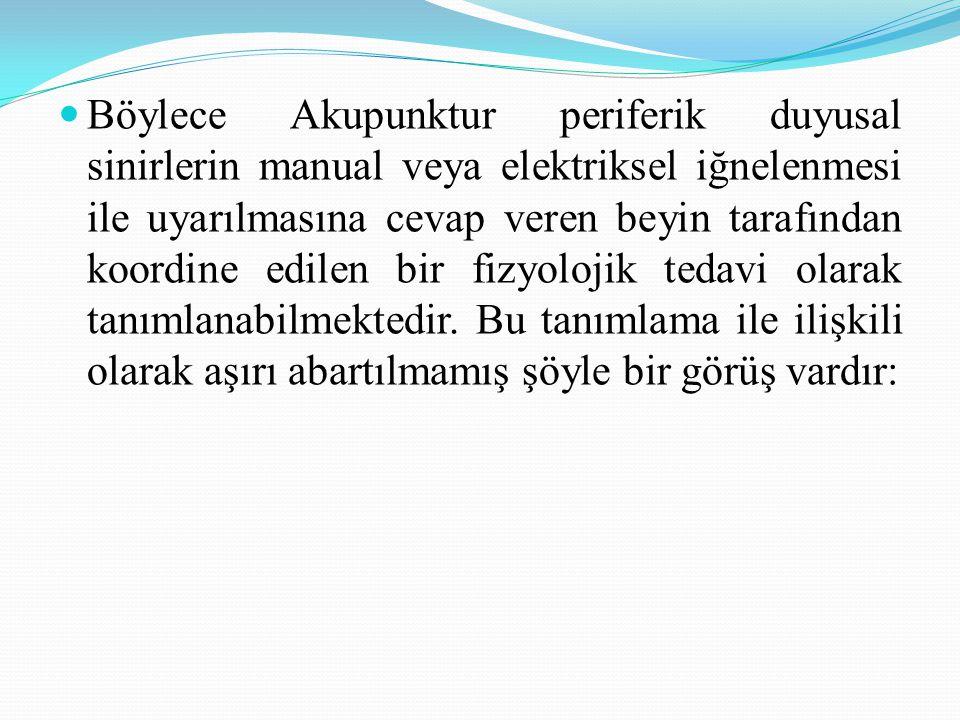 Akunoktalarının üç tipi: BNMAS 3 tip akunoktalarını içermektedir: Homeostatik Akunoktalar (HAs), Semptomatik Akunoktalar (Sas), Paravertebral Akunoktalar (PAs).