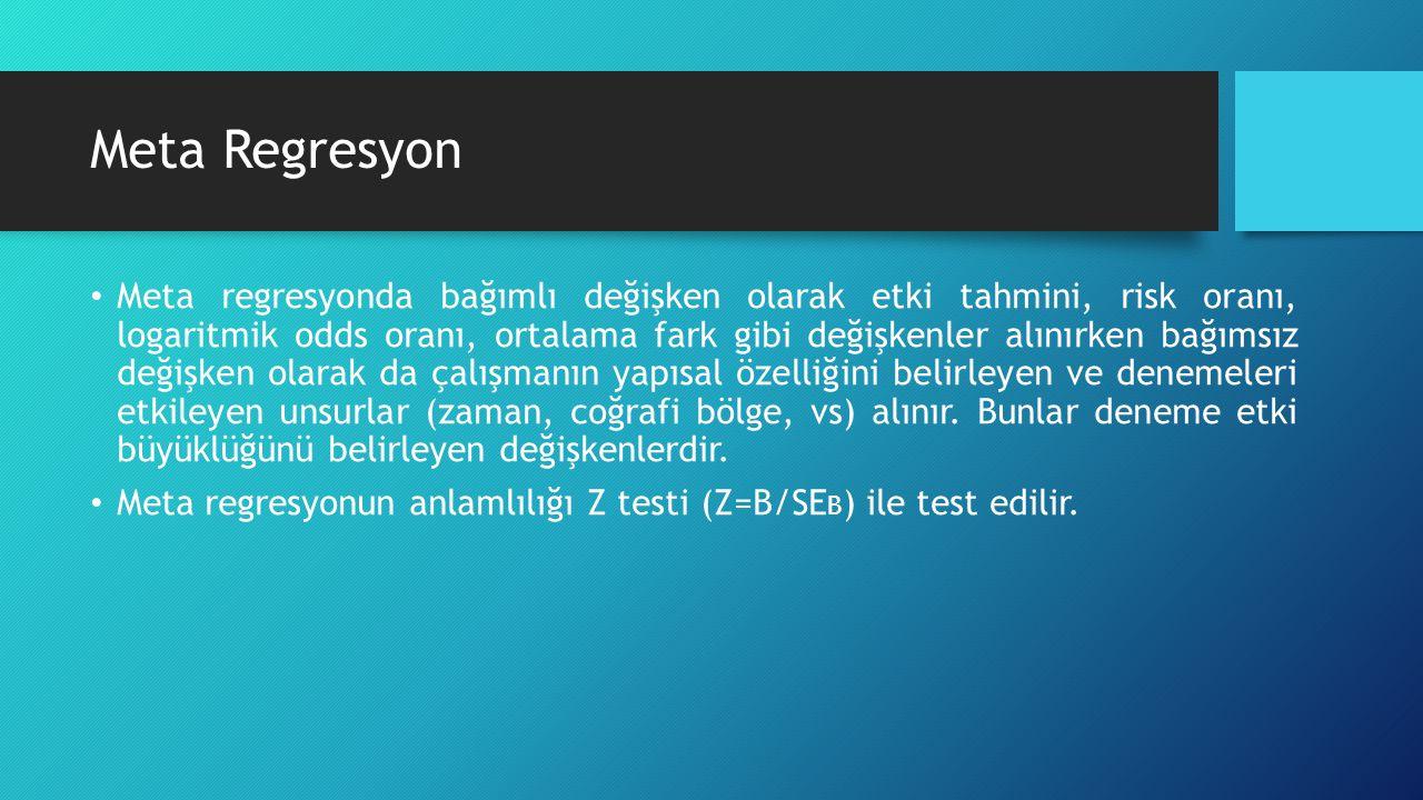 Örnek Xrcise4deprsn (Exercise for depression) verisi kullanıldı. Bağımlı değişken ortalama farklar.