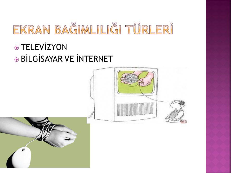  Bilgisayar ve internetin çok sık kullanılmasından,  Kolay erişilebilir olmasından, dolayı oluşan bağımlılık türüdür.