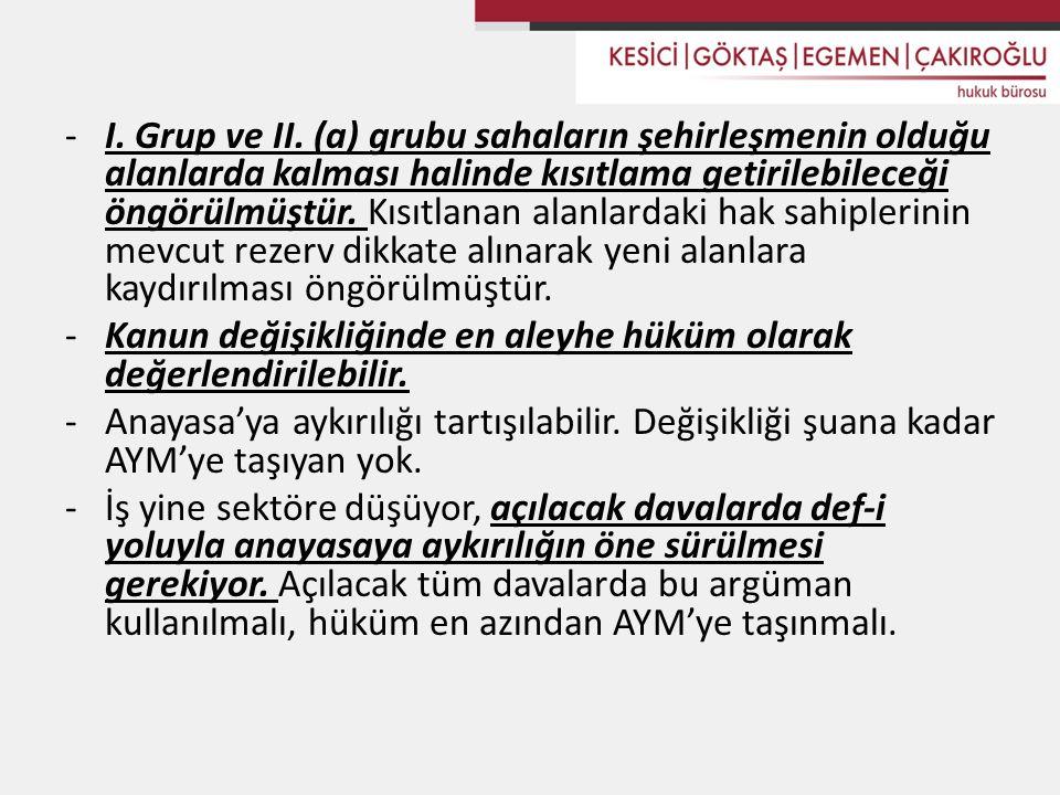 -I.Grup ve II.