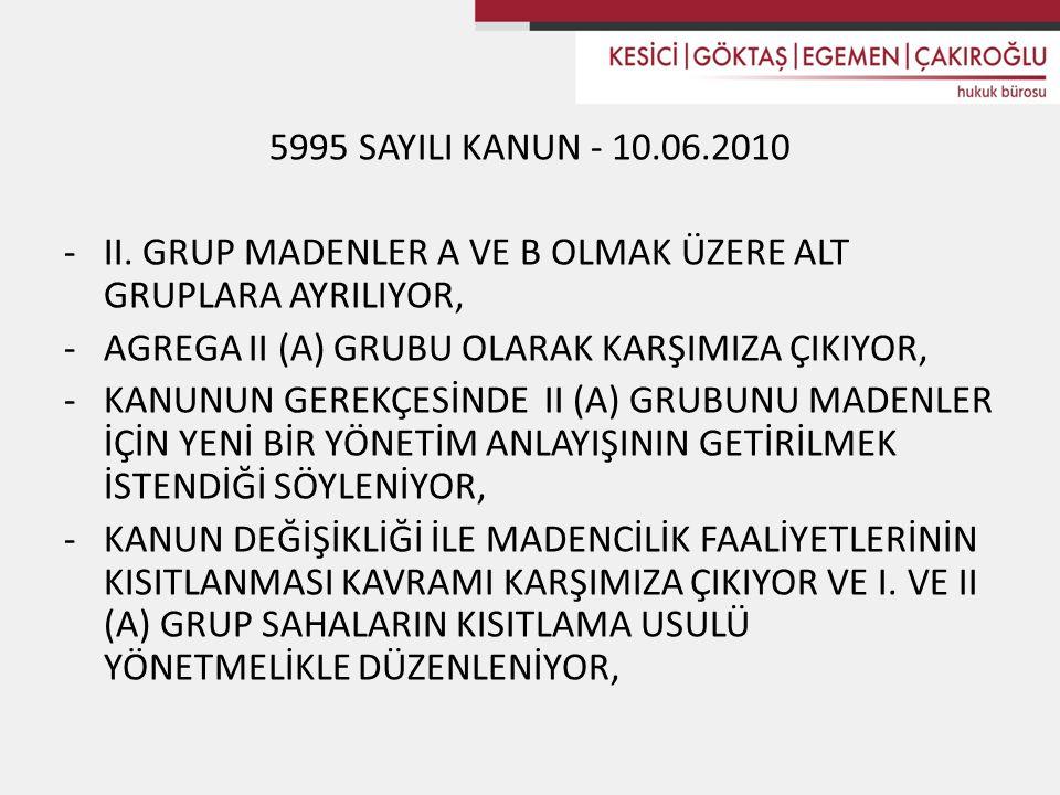 5995 SAYILI KANUN - 10.06.2010 -II.