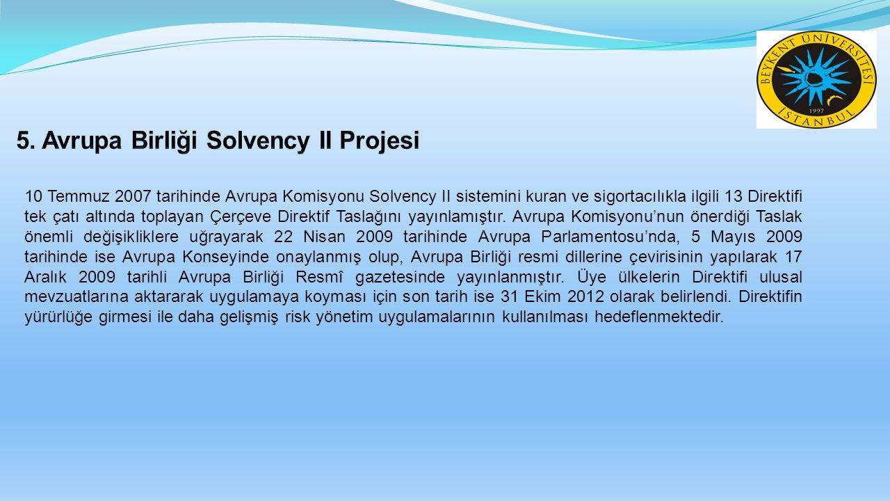 10 Temmuz 2007 tarihinde Avrupa Komisyonu Solvency II sistemini kuran ve sigortacılıkla ilgili 13 Direktifi tek çatı altında toplayan Çerçeve Direktif