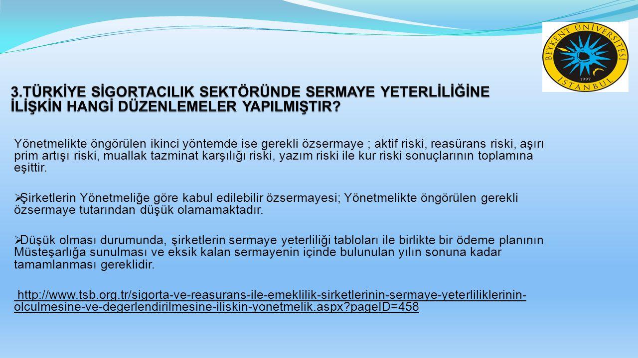 11.Kaynakça, İncelenen Makale ve Yazılar Acar, Onur (2007), Avrupa Birliği Solvency II Projesi, Türkiye Sigorta ve Reasürans Şirketleri Birliği (TSRSB).