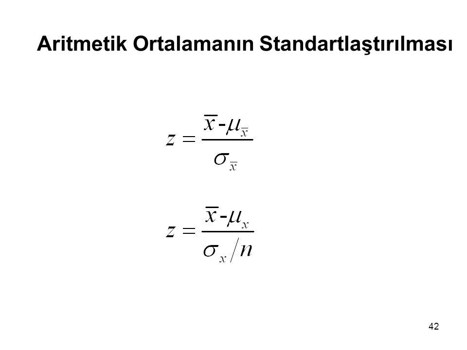 Aritmetik Ortalamanın Standartlaştırılması 42