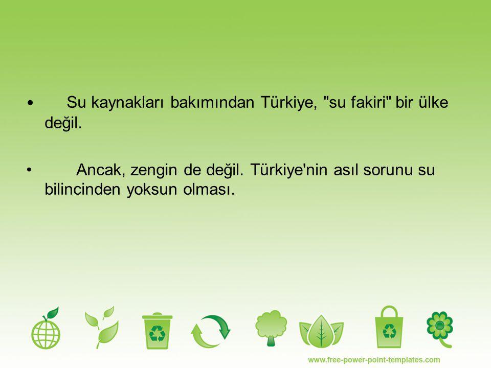 Su kaynakları bakımından Türkiye,