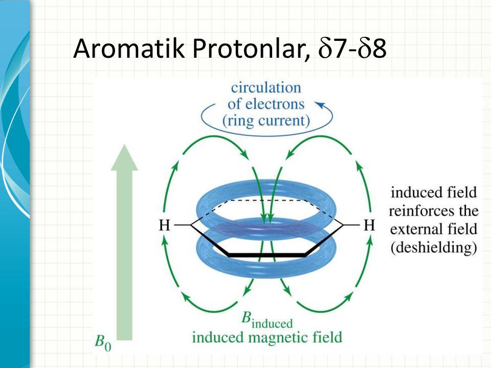 Aromatik Protonlar,  7-  8