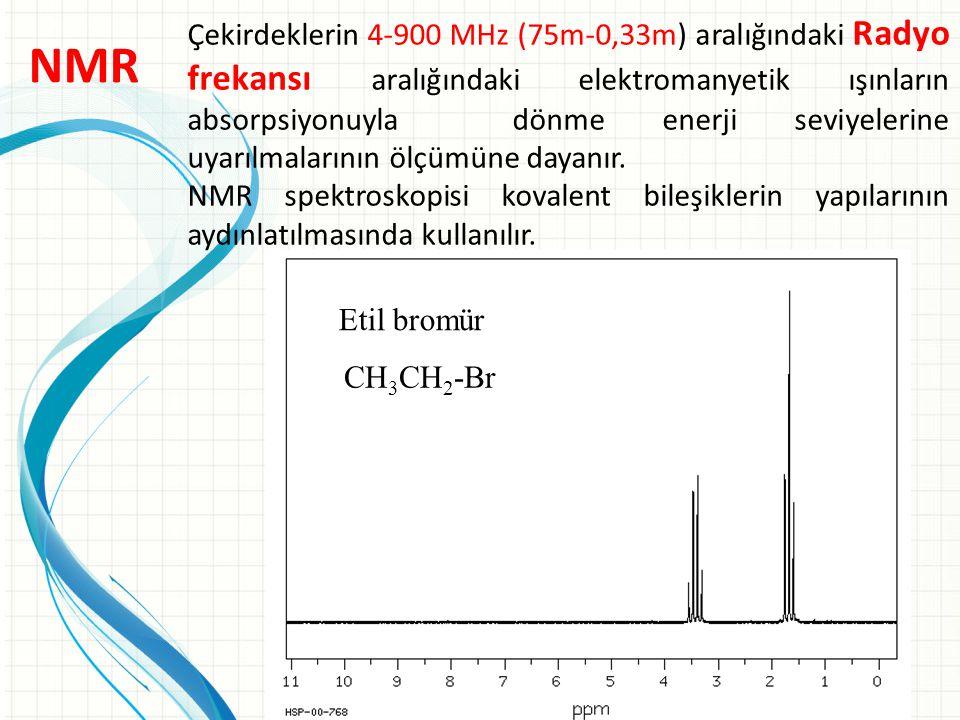 Çekirdeklerin 4-900 MHz (75m-0,33m) aralığındaki Radyo frekansı aralığındaki elektromanyetik ışınların absorpsiyonuyla dönme enerji seviyelerine uyarı