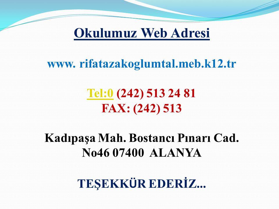 Okulumuz Web Adresi www.