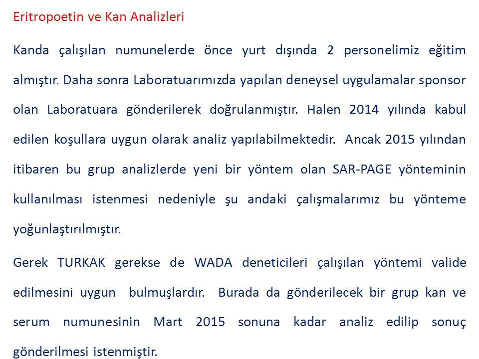 DENETİM TURKAK Denetimi WADA tarafından gönderilen bir, Türkiye'den iki ve stajyer bir denetici ile yapılan denetimlerde hem TURKAK hem de ISL kriterleri açısından denetim yapılmıştır.