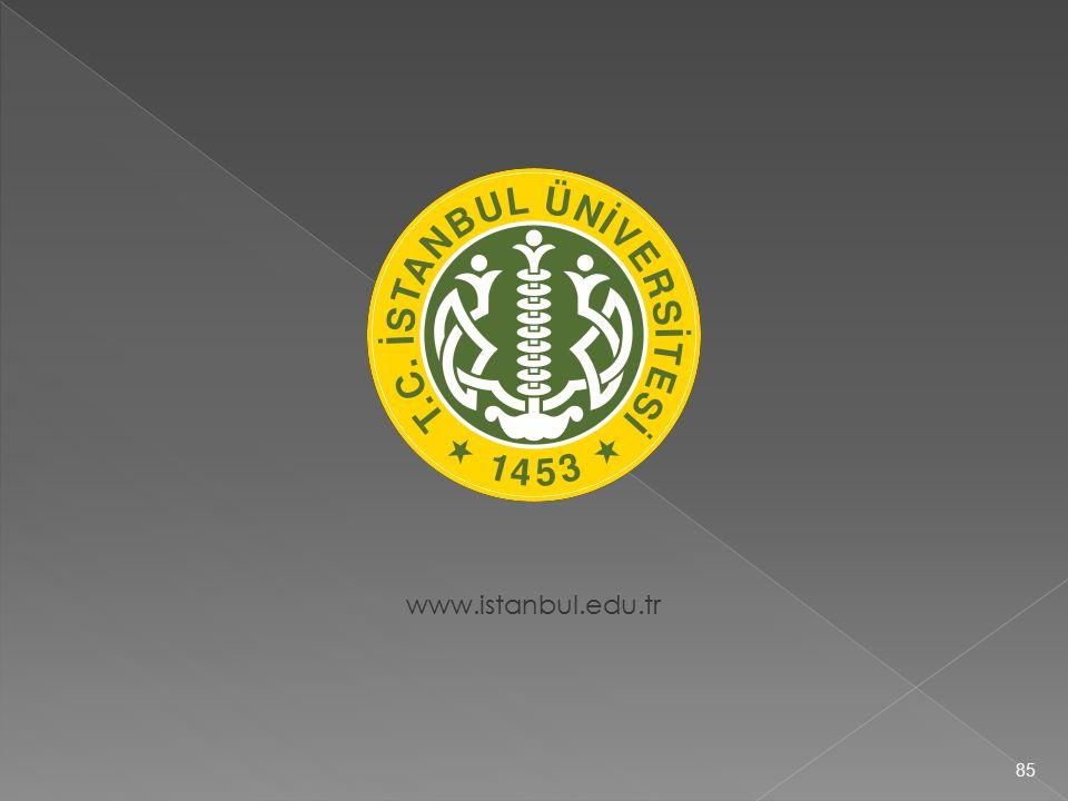 www.istanbul.edu.tr 85
