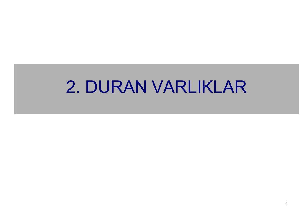 1 2. DURAN VARLIKLAR