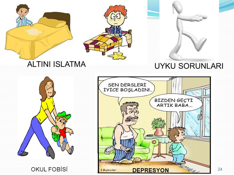 24 ALTINI ISLATMA UYKU SORUNLARI OKUL FOBİSİ DEPRESYON