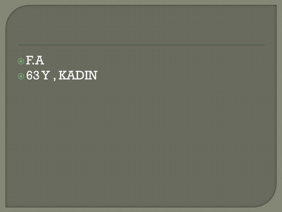  F.A  63 Y, KADIN