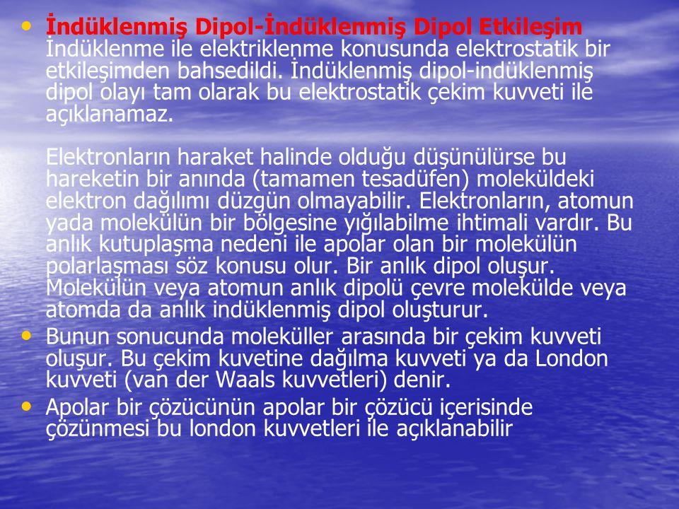 İndüklenmiş Dipol-İndüklenmiş Dipol Etkileşim İndüklenme ile elektriklenme konusunda elektrostatik bir etkileşimden bahsedildi. İndüklenmiş dipol-indü