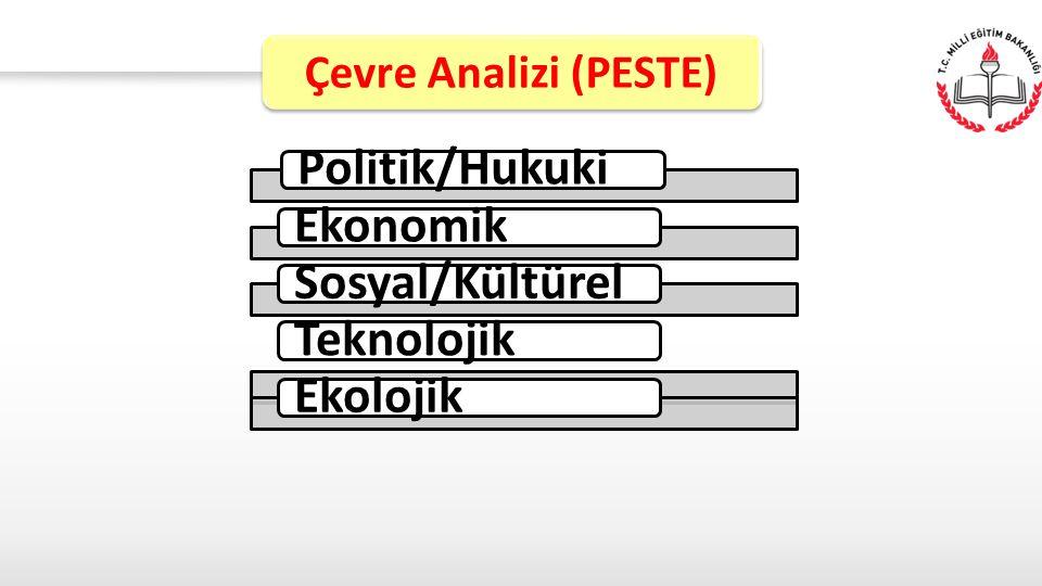 Politik/HukukiEkonomikSosyal/KültürelTeknolojikEkolojik Çevre Analizi (PESTE)