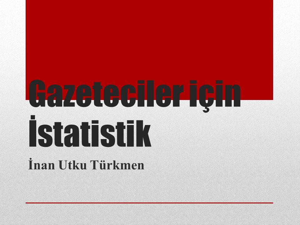 Gazeteciler için İstatistik İnan Utku Türkmen