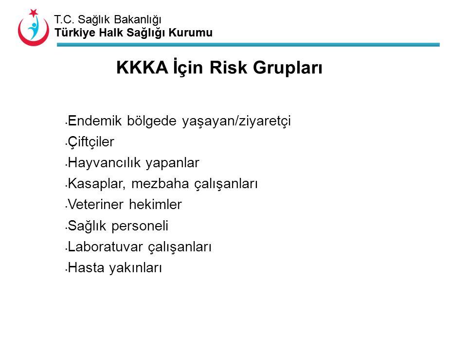 T.C. Sağlık Bakanlığı Türkiye Halk Sağlığı Kurumu T.C. Sağlık Bakanlığı Türkiye Halk Sağlığı Kurumu Endemik bölgede yaşayan/ziyaretçi Çiftçiler Hayvan