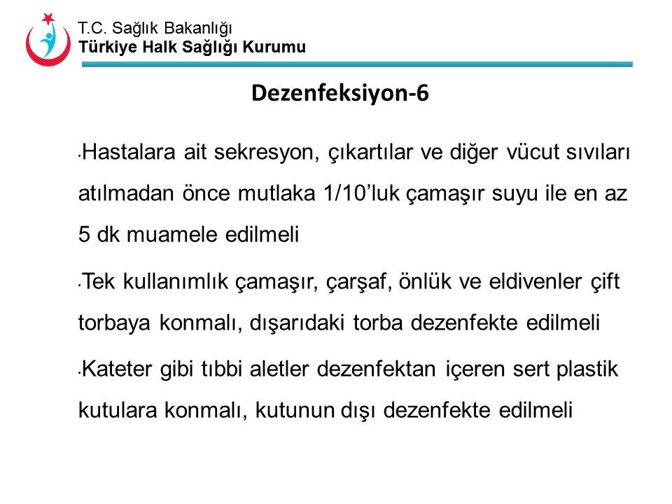 T.C. Sağlık Bakanlığı Türkiye Halk Sağlığı Kurumu T.C. Sağlık Bakanlığı Türkiye Halk Sağlığı Kurumu Hastalara ait sekresyon, çıkartılar ve diğer vücut