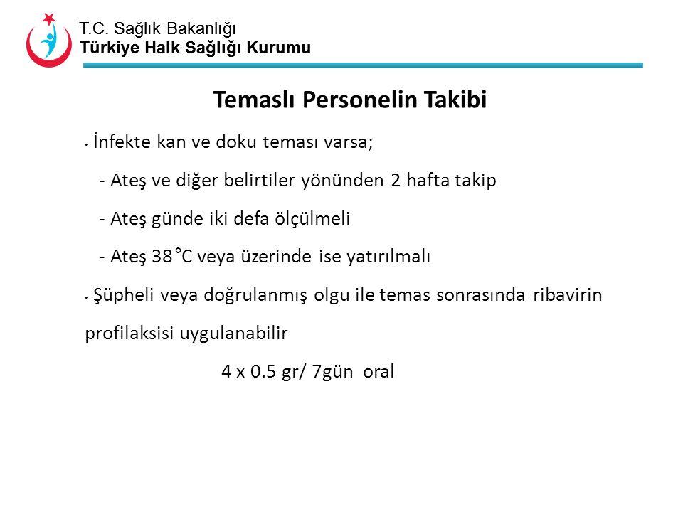 T.C. Sağlık Bakanlığı Türkiye Halk Sağlığı Kurumu T.C. Sağlık Bakanlığı Türkiye Halk Sağlığı Kurumu İnfekte kan ve doku teması varsa; - Ateş ve diğer