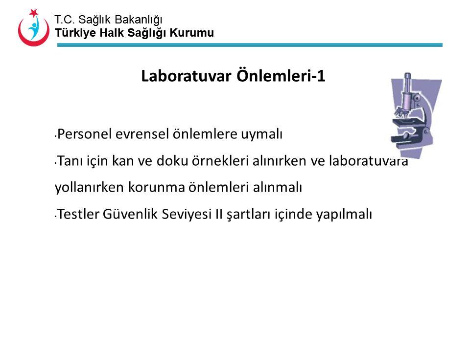 T.C. Sağlık Bakanlığı Türkiye Halk Sağlığı Kurumu T.C. Sağlık Bakanlığı Türkiye Halk Sağlığı Kurumu Laboratuvar Önlemleri-1 Personel evrensel önlemler