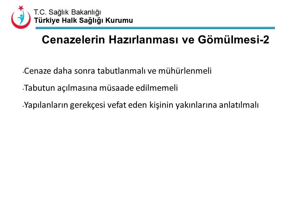 T.C. Sağlık Bakanlığı Türkiye Halk Sağlığı Kurumu T.C. Sağlık Bakanlığı Türkiye Halk Sağlığı Kurumu Cenazelerin Hazırlanması ve Gömülmesi-2 Cenaze dah