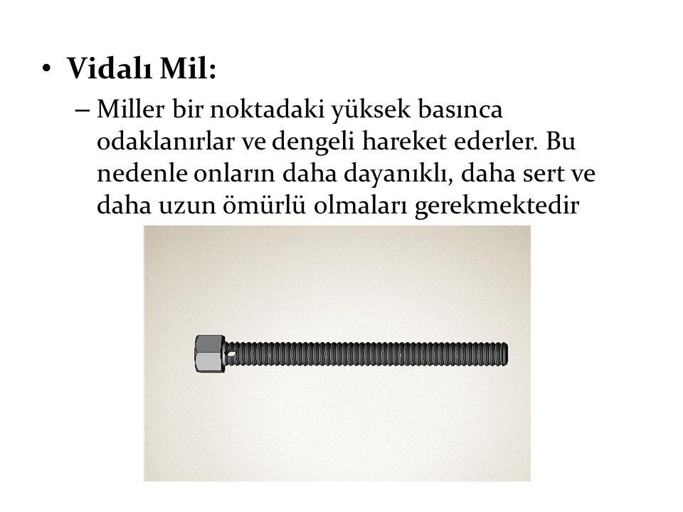Vidalı Mil: – Miller bir noktadaki yüksek basınca odaklanırlar ve dengeli hareket ederler. Bu nedenle onların daha dayanıklı, daha sert ve daha uzun ö