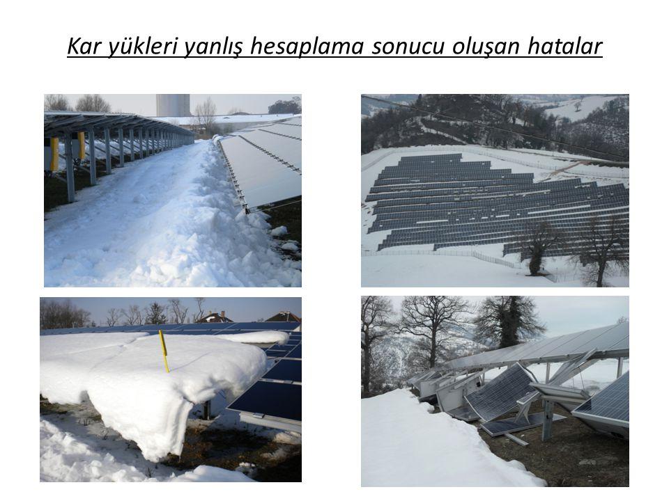 Kar yükleri yanlış hesaplama sonucu oluşan hatalar