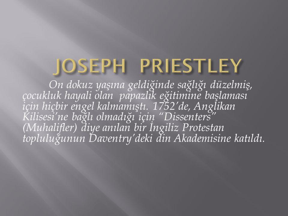 On dokuz yaşına geldiğinde sağlığı düzelmiş, çocukluk hayali olan papazlık eğitimine başlaması için hiçbir engel kalmamıştı. 1752'de, Anglikan Kilises