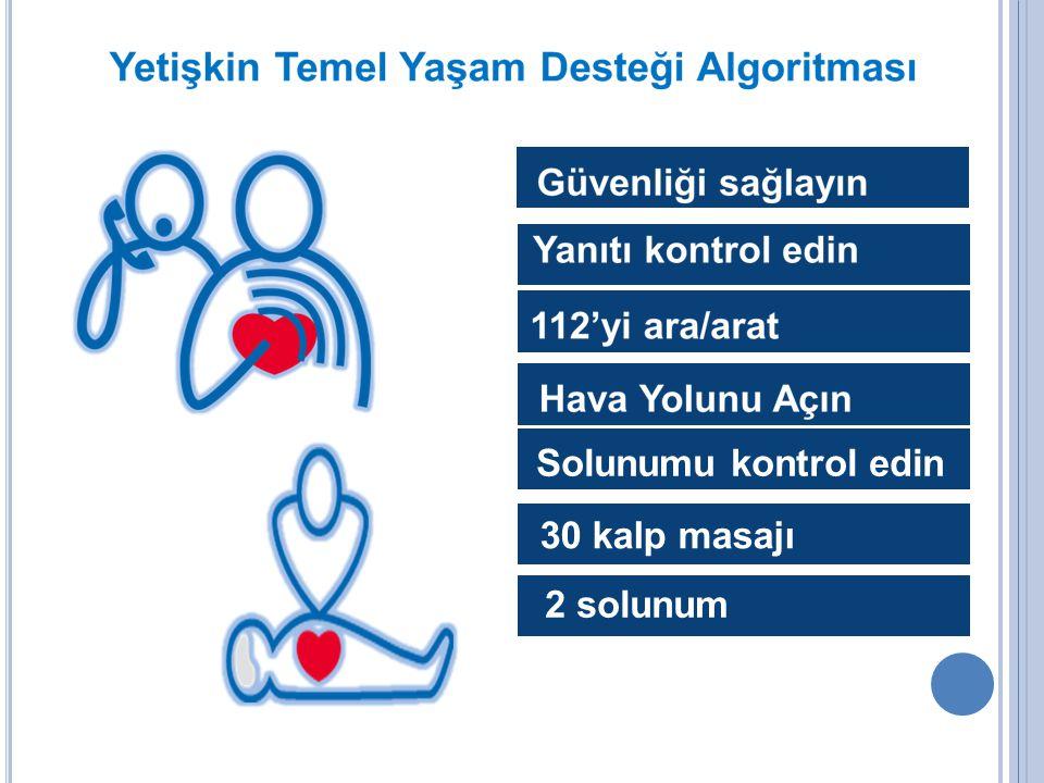 Solunumu kontrol edin 30 kalp masajı 2 solunum