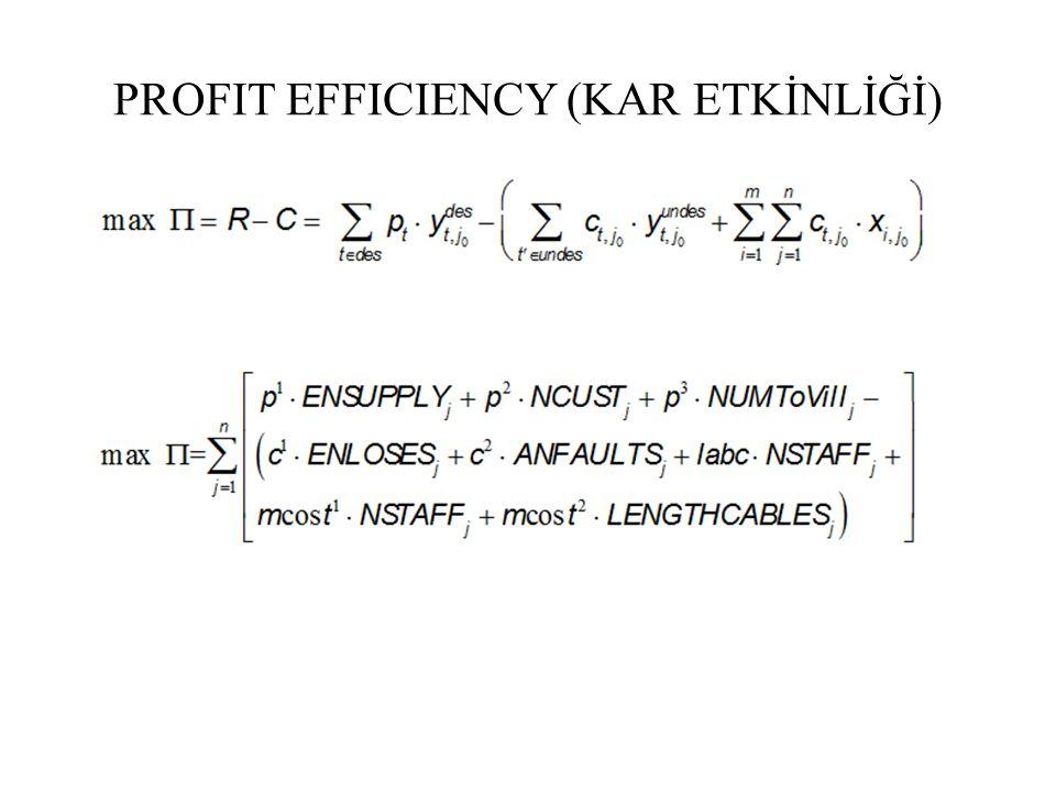 PROFIT EFFICIENCY (KAR ETKİNLİĞİ)