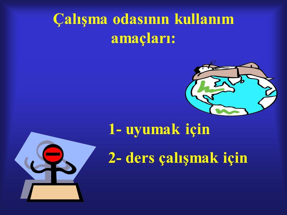 DİKKATİN DAĞILMASINA NEDEN OLAN İÇ VE DIŞ ETKENLER İÇ ETKENLERDIŞ ETKENLER 1-HAYAL KURMA1-POSTERLER 2-GELECEKLE İLGİLİ ENDİŞELER2-YATARAK ÇALIŞMA 3-MÜZİK DİNLEME 4-TELEVİZYON 5-TELEFON 6-BİLGİSAYAR 7-ARKADAŞLAR 8-DAĞINIK ODA 9-YEME-İÇME