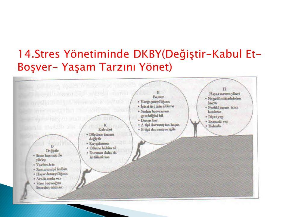 14.Stres Yönetiminde DKBY(Değiştir-Kabul Et- Boşver- Yaşam Tarzını Yönet)