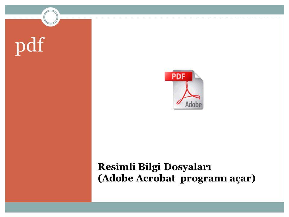 Resimli Bilgi Dosyaları (Adobe Acrobat programı açar) pdf