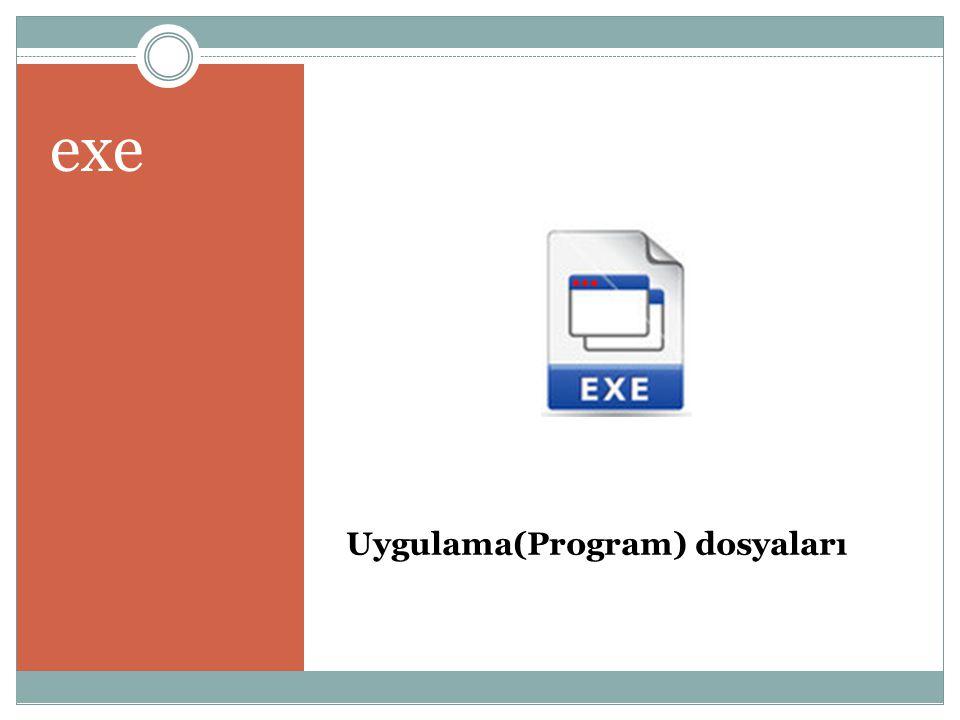 Uygulama(Program) dosyaları exe