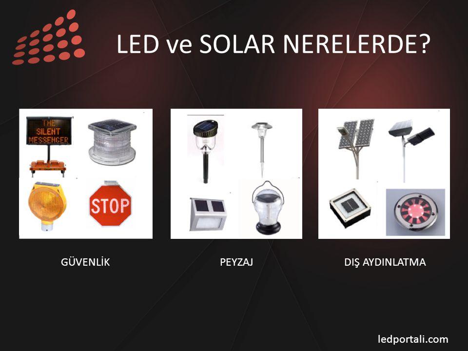 LED ve SOLAR NERELERDE? GÜVENLİK PEYZAJ DIŞ AYDINLATMA ledportali.com