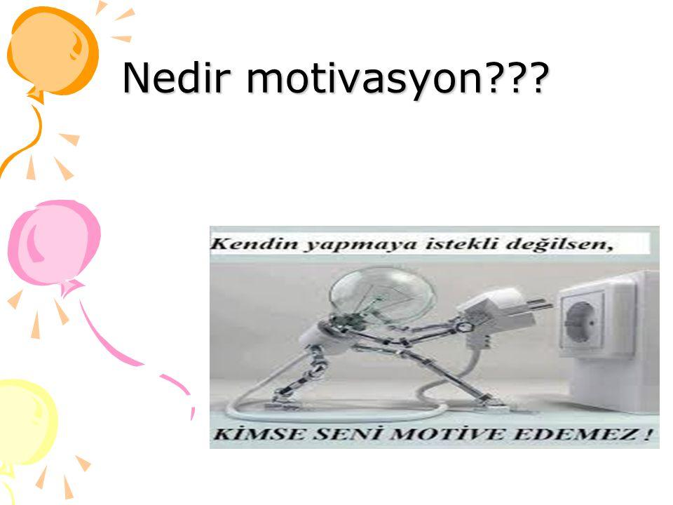 Nedir motivasyon???