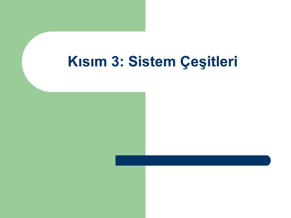 Kısım 3: Sistem Çeşitleri