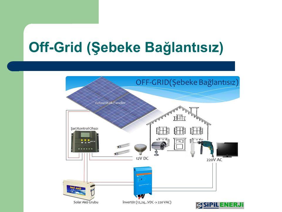 Off-Grid (Şebeke Bağlantısız)
