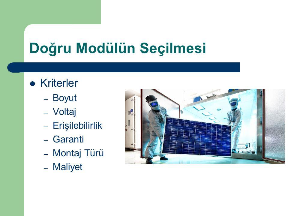 Doğru Modülün Seçilmesi Kriterler – Boyut – Voltaj – Erişilebilirlik – Garanti – Montaj Türü – Maliyet