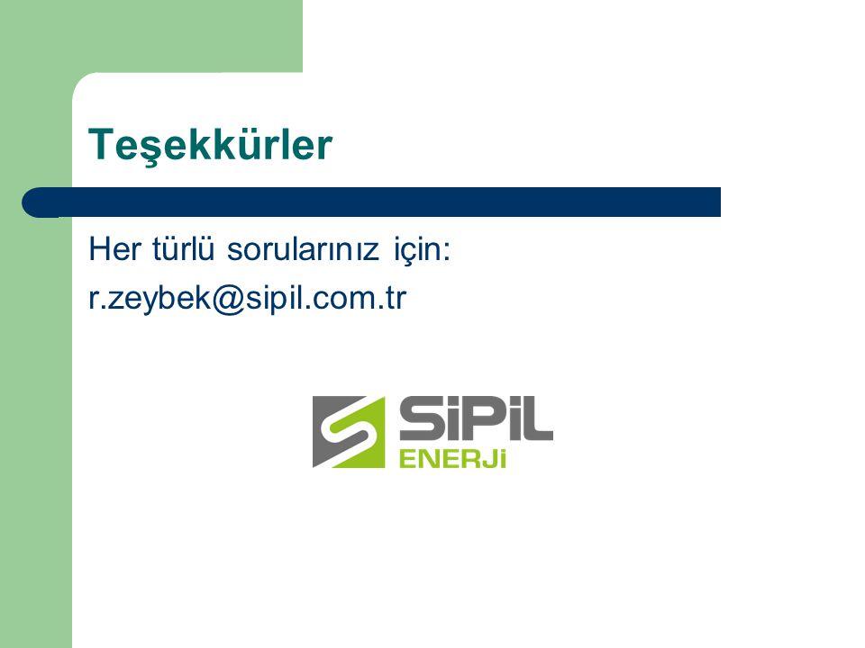 Teşekkürler Her türlü sorularınız için: r.zeybek@sipil.com.tr
