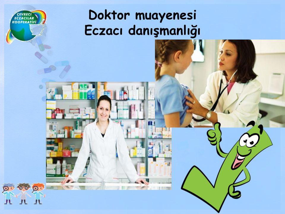 Doktor muayenesi Eczacı danışmanlığı