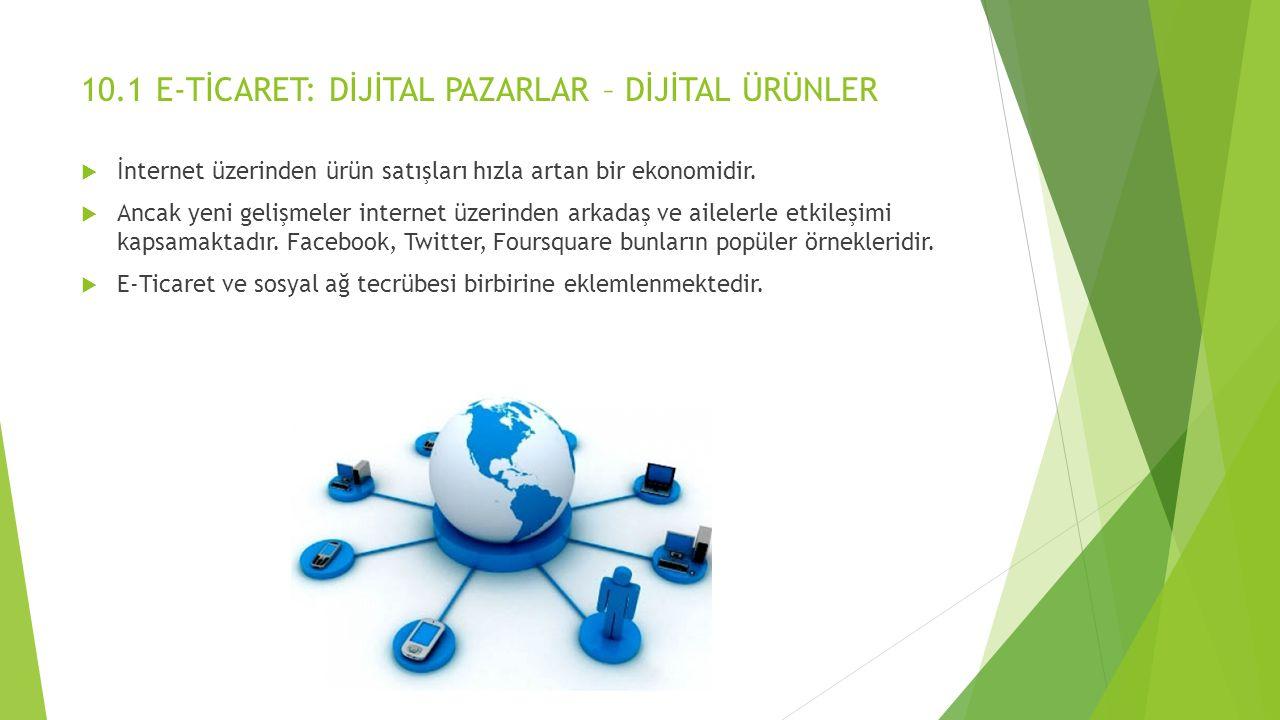 E-TİCARET ve İNTERNET  E-Ticaret yılda ortalama %12 büyümektedir.