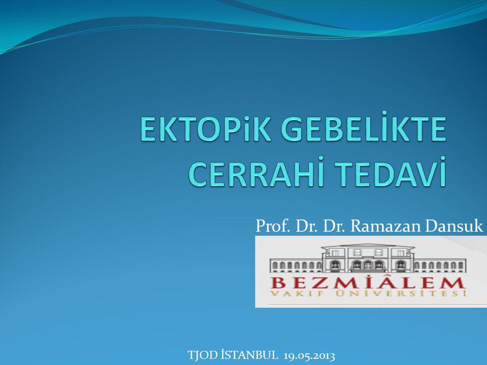 Prof. Dr. Dr. Ramazan Dansuk TJOD İSTANBUL 19.05.2013