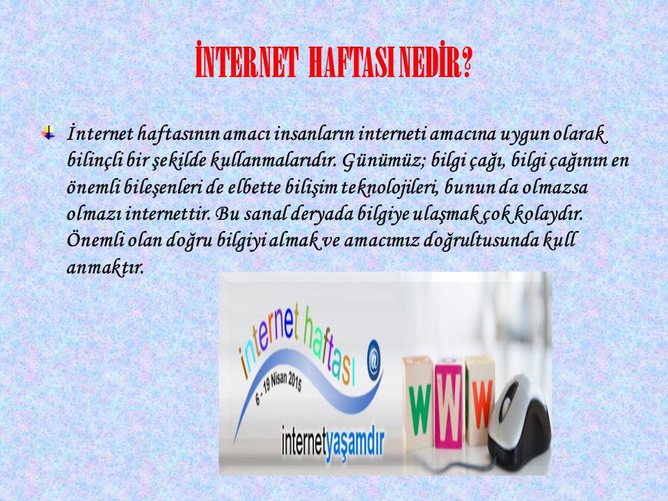İNTERNET HAFTASI NEDİR.