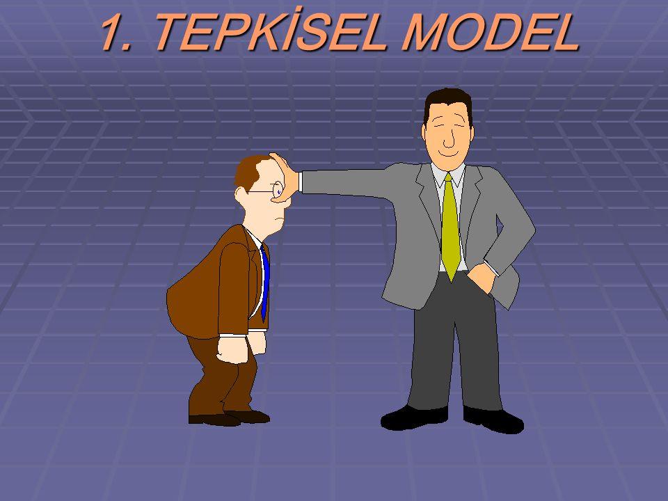 SINIF YÖNETİMİ MODELLERİ  1. TEPKİSEL MODEL  2. ÖNLEMSEL MODEL  3. GELİŞİMSEL MODEL  4. BÜTÜNSEL MODEL