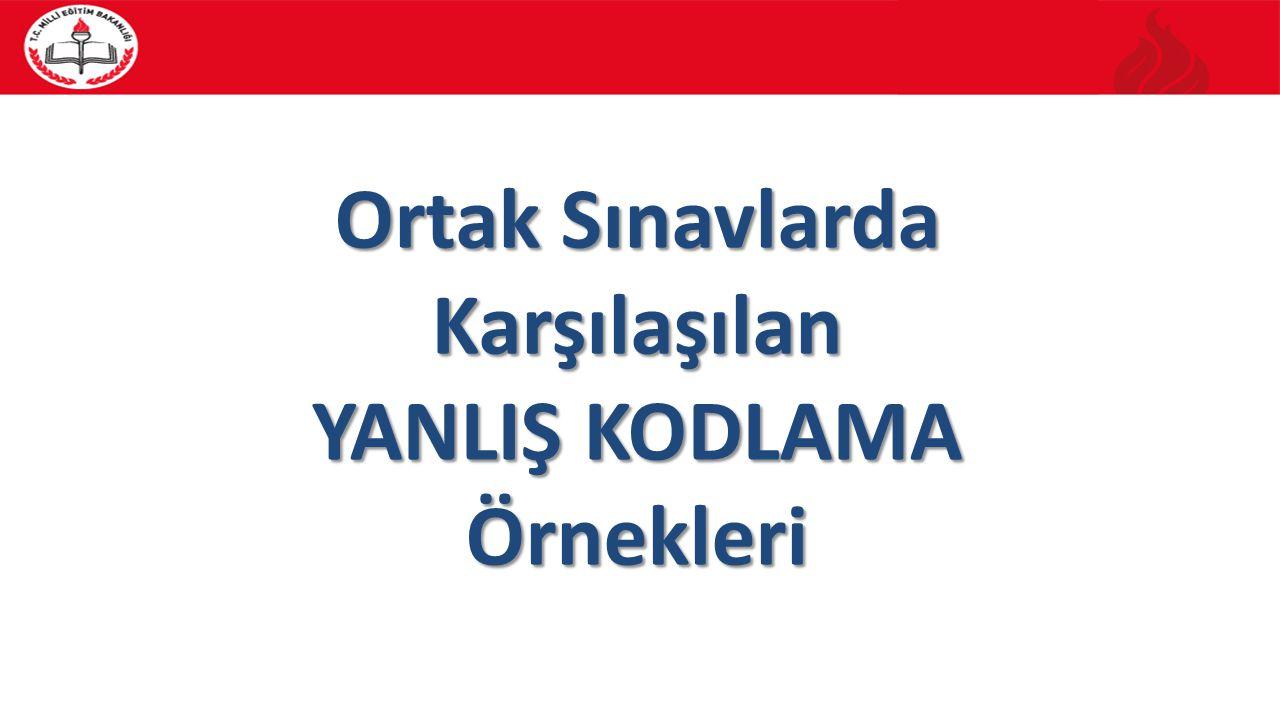 Yedek Cevap Kağıdı 40 Bina Sınav Komisyon Başkanı Tarafından Doldurulacak BÖLÜM: