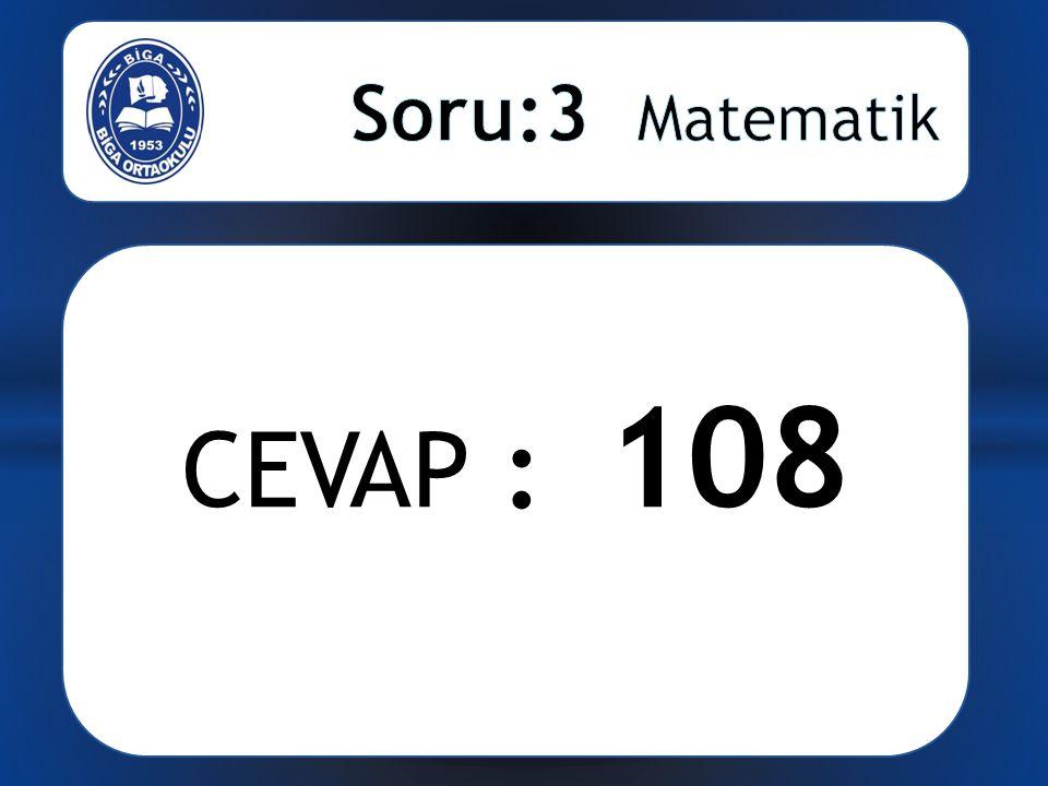 CEVAP : 108