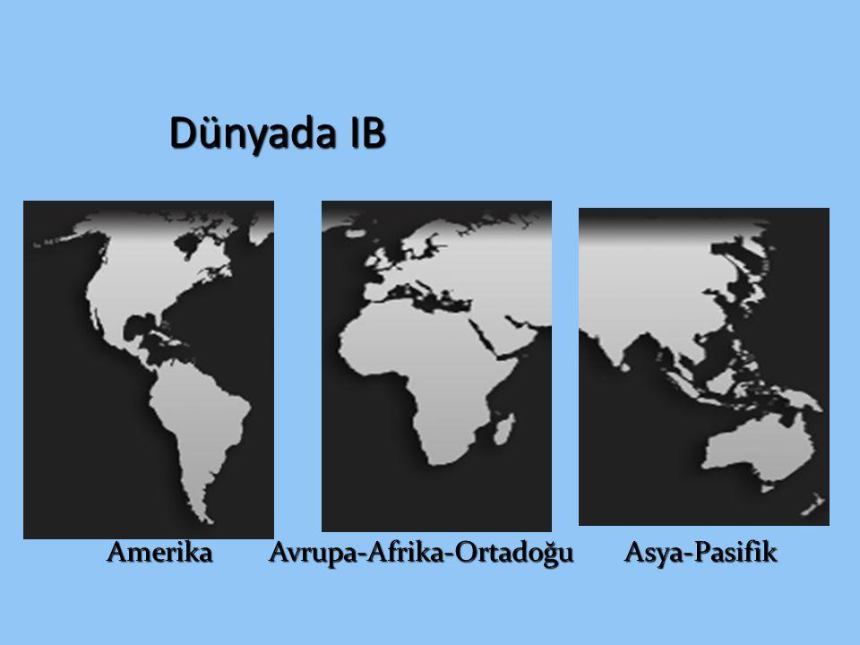 Dünyada IB Amerika Avrupa-Afrika-Ortadoğu Asya-Pasifik