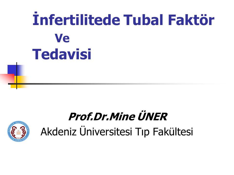 İnfertilitede Tubal Faktör Ve Tedavisi Prof.Dr.Mine ÜNER Akdeniz Üniversitesi Tıp Fakültesi